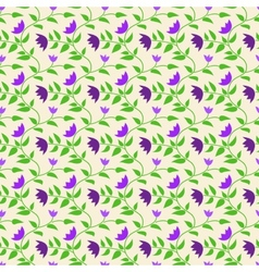 Spring style seamless background floral pattern vector image vector image