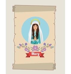 St mary the virgin design vector