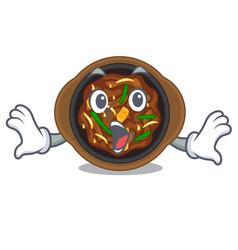 Surprised bulgogi in a cartoon shape vector