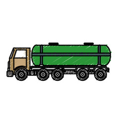 Tank truck icon vector