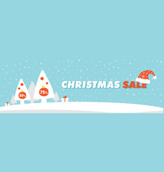 Template for christmas sale and special offers vector