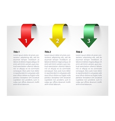 Three step information card vector