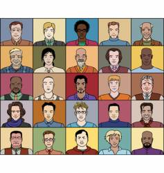 Twenty five adult men vector