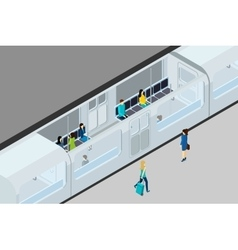 Underground People And Train vector image