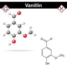 Vanillin - chemical formula vector