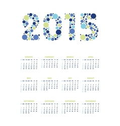Vertical calendar 2015 vector
