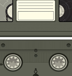 video tape cassette vector image
