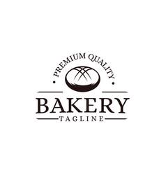 vintage retro hipster label emblem logo bakery vector image