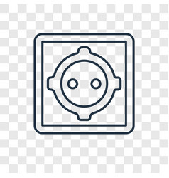 Wall socket concept linear icon isolated on vector