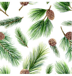 watercolor christmas seamless pattern with vector image