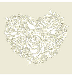 wedding card decoration vector image