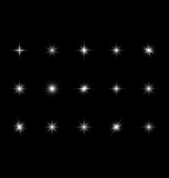 white starburst sparks effect light different vector image