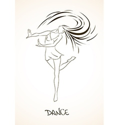With dancing girl vector