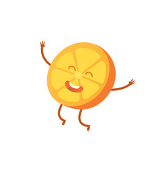 with funny orange character vector image