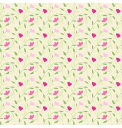Cute style seamless background floral pattern vector image