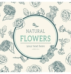 Flower vintage styled sketch background vector image vector image