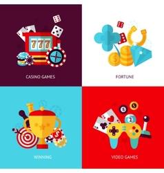Game design set vector image vector image