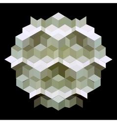 hexagon kaleidoscope optical vector image vector image