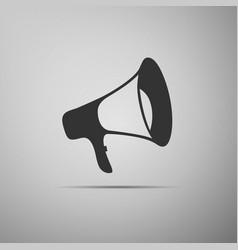 megaphone flat icon on grey background vector image