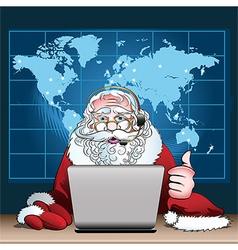Santa Claus on duty vector image