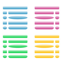 buttons for site blue pink green yellow vector image
