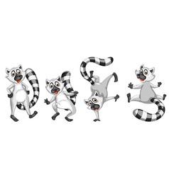 cartoon lemurs set vector image vector image