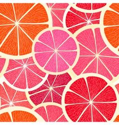 Grapefruit seamless background vector image