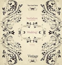 Vintage floral pattern for your design vector image vector image