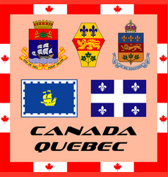 official government elements of canada - quebec vector image