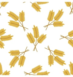 Seamless pattern of barley or wheat ears vector image vector image