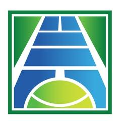 Tennis court logo vector image vector image
