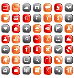 web icons set vector image