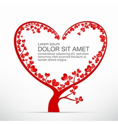 004 Heart Tree element for valentine day and vector image vector image