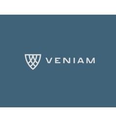 Abstract shield logo design Premium business mark vector image vector image