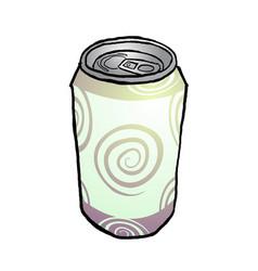 drink metal can vector image