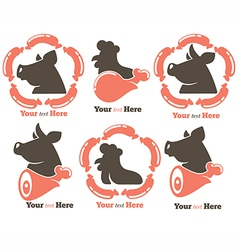 Meat symbols vector