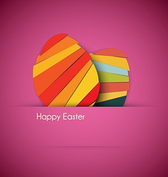 purple Paper easter egg card vector image vector image