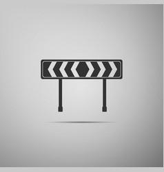 Traffic sign road road block sign vector