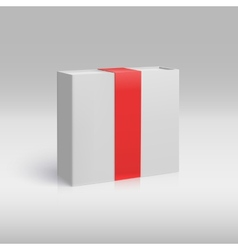 Vertical box with red ribbon vector image