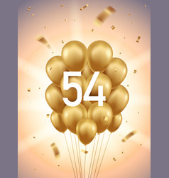 54th year anniversary background vector image