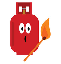 A gas cylinder or color vector