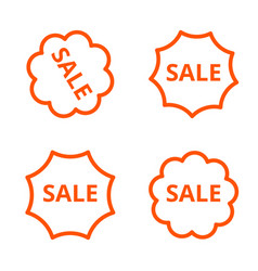 a simple linear image of four stickers with vector image vector image