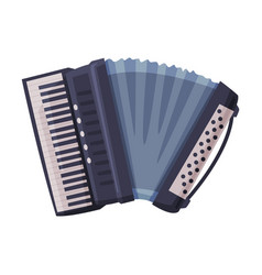 Accordion classical musical instrument flat style vector