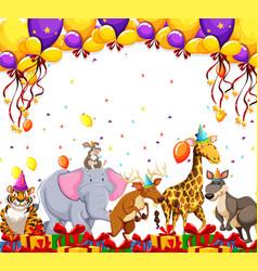 Animal party celebration concept vector