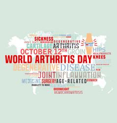 Arthritis tag cloud poster vector