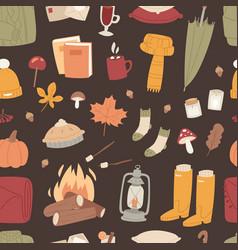 Autumn season icons symbol vector