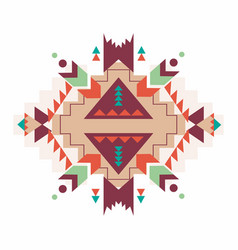 Aztec print pattern background vector
