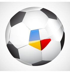ball with flags vector image