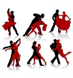 ballroom dancer vector image vector image