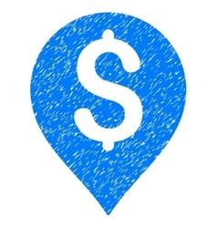 Bank Map Marker Grainy Texture Icon vector